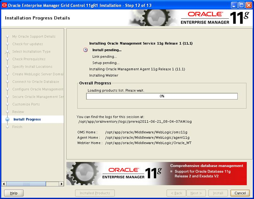 Oracle Grid Control 11 1 0 1 Grid control Installation